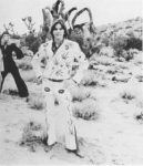 Parsons in his Nudie Suit at Joshua Tree