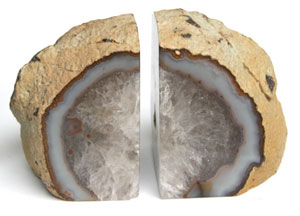 Agate bookends are one of our most popular items.