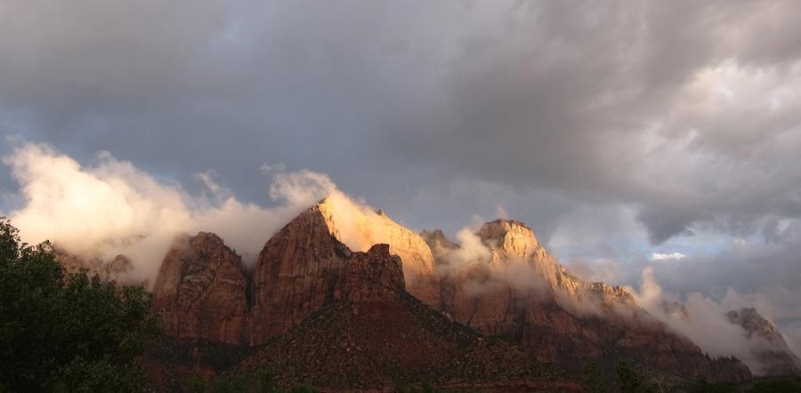 Summer storm at Zion
