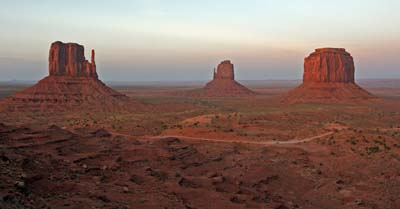 Sunset at Monument Valley.