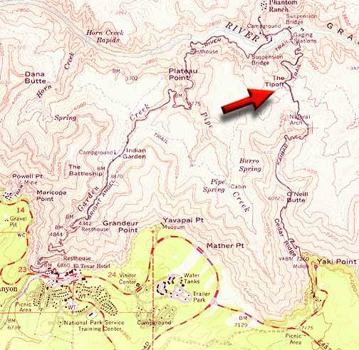 Map Of Arizona Grand Canyon Area.Grand Canyon