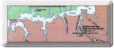Rainbow Bridge National Monument Map