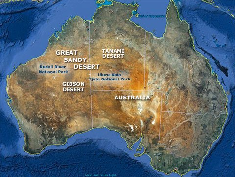 Map Of Australia Natural Features.Australia S Great Sandy Desert Location Landscape Desertusa