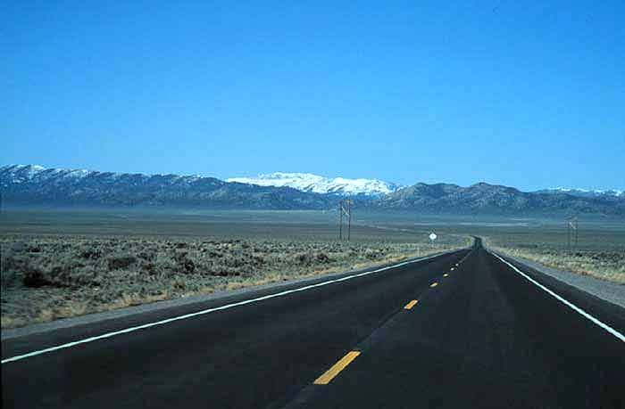 Rt 50 in the The Great Basin Desert