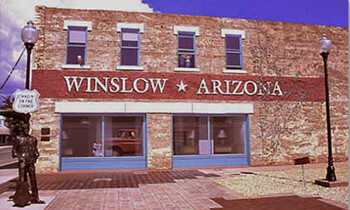 Standing on the Corner in Winslow AZ