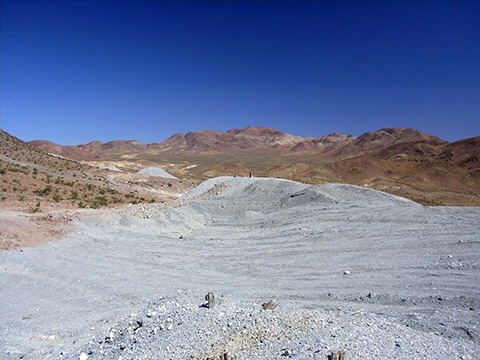 Nodule collection area on tailings pile.