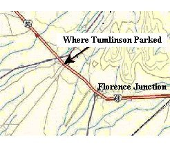 Map of location of Tumlinson's find