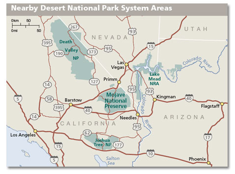 Map Of Mojave Desert Mojave National Preserve Geography and Map   DesertUSA