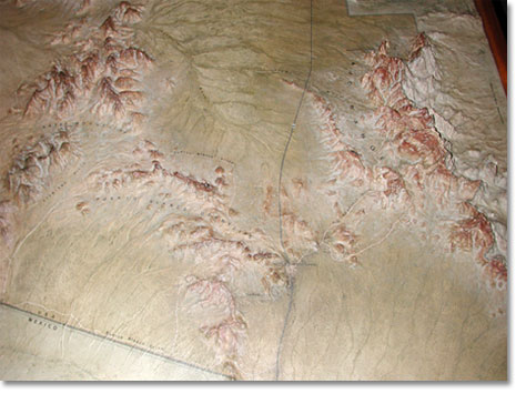 Topographical Map At Kris Eggle Visitor Center Provides Visitors Another Way To Understand The Geography Of