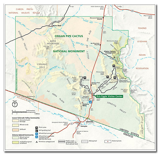 Organ Pipe Cactus National Monument Map and Climate - DesertUSA