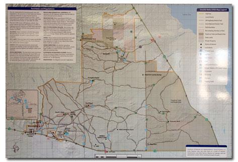 Ocotillo Wells Map Ocotillo Wells California OHV Area: Trail Map   DesertUSA