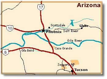 Saguaro National Park Climate Map Geography Desertusa