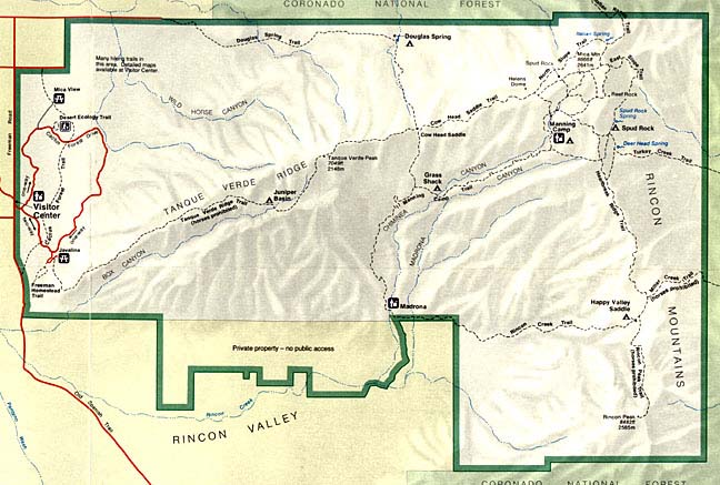 Saguaro National Park Climate Map Geography DesertUSA