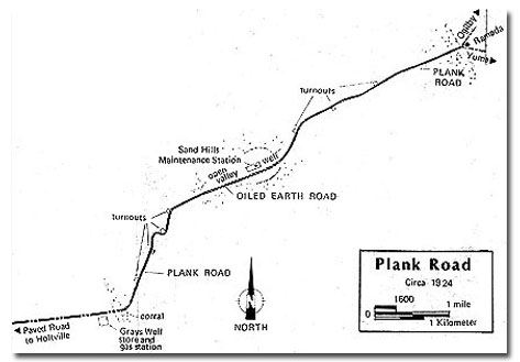 Map of the Old Plank Road