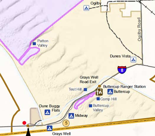 Imperial Sand Dunes Camping and where to stay information