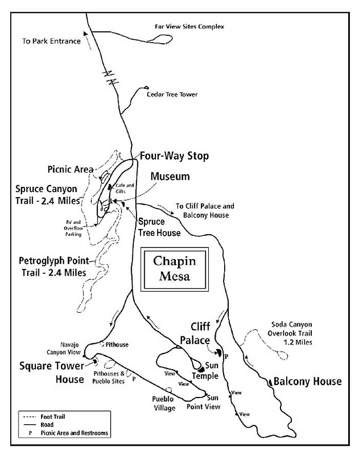 Mesa Verde Location Map DesertUSA
