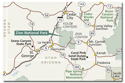 Zion National Park Climate Geography Map Desertusa
